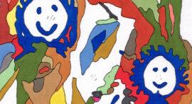 Skitse til glasmaleri